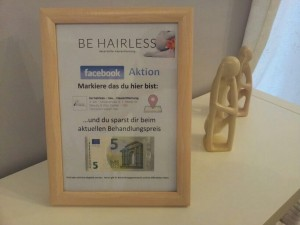 BE HAIRLESS dauerhafte Haarentfernung - FACEBOOK AKTION